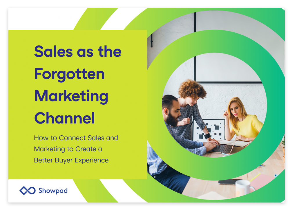 Sales as the Forgotten Marketing Channel ebook