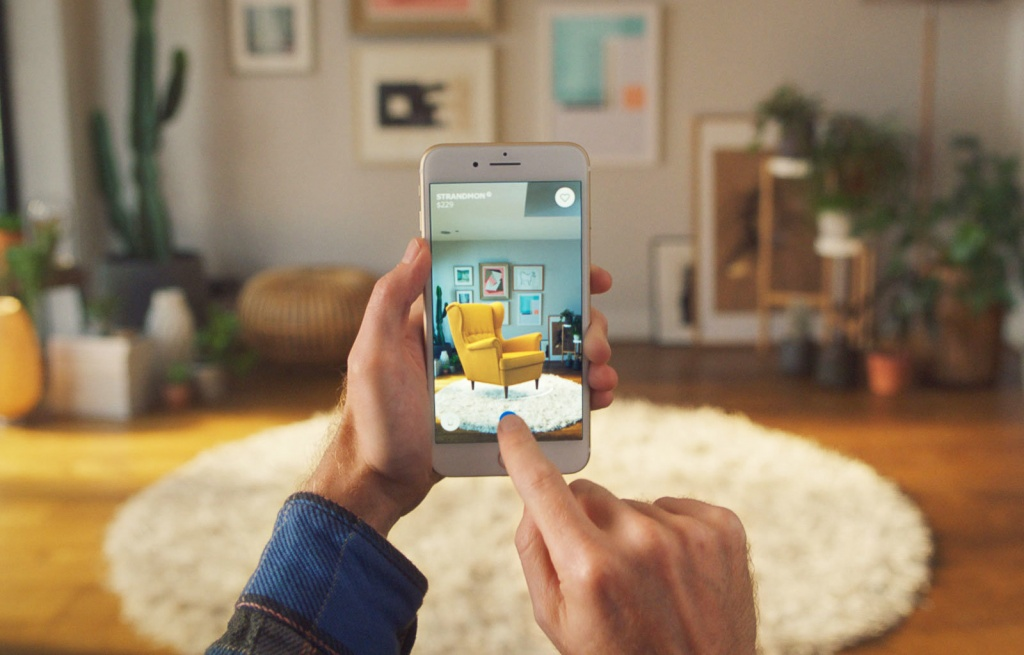 ALT - Augmented reality IKEA app with 3D model