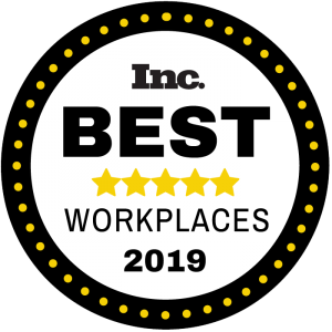 Inc. Best Workplaces 2019 logo