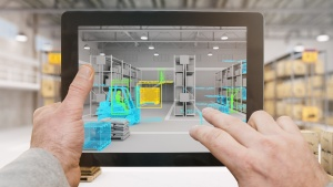 Augmented reality in sales and marketing tablet