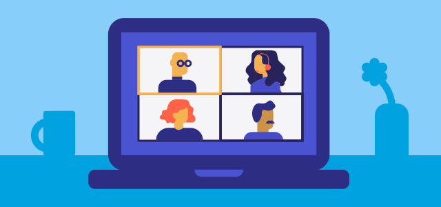 Best Practices for Running a Virtual Sales Meeting Illustration