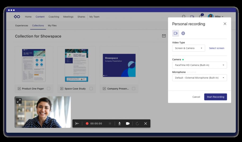 showpad video engagement
